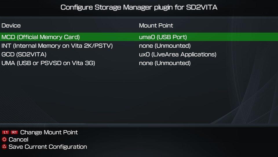 sd2vita storagemgr storage manager autoplugin