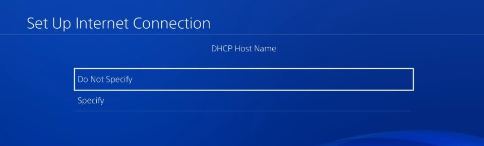 ps4 5.05 hen dhcp host name do not specify