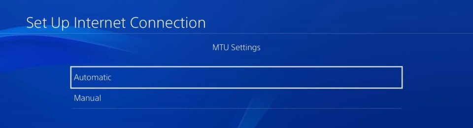 ps4 5.05 dns network settings mtu