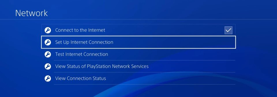 ps4 5.05 set up internet connection dns
