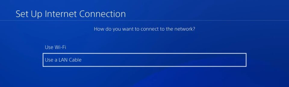 ps4 5.05 dns setup internet connection lan or wifi
