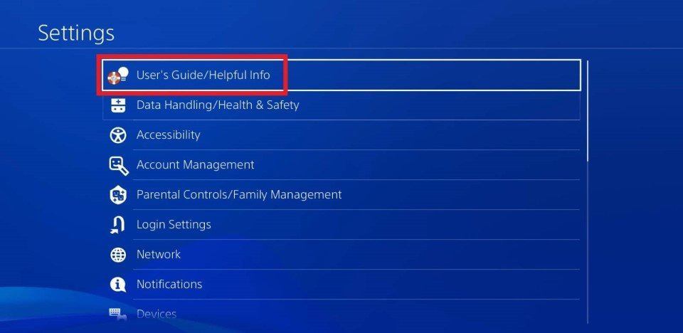 ps4 5.05 user's guide helpful info