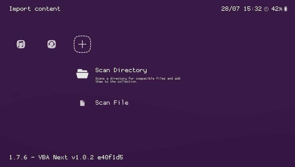 retroarch scan directory