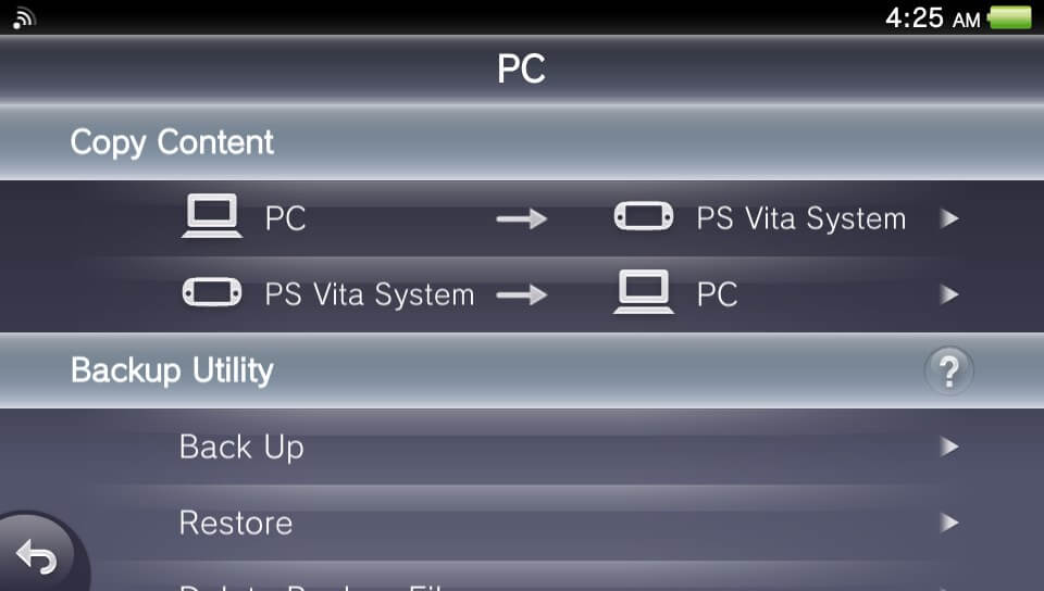 content manager ps vita pc