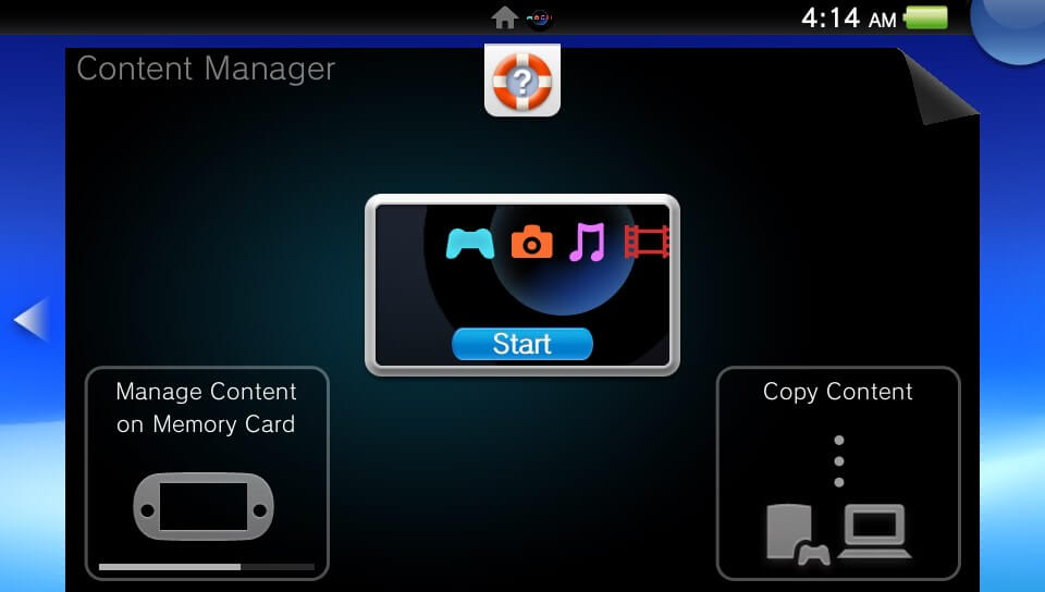 ps vita content manager