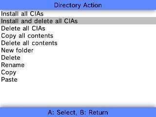 3ds fbi install and delete cia
