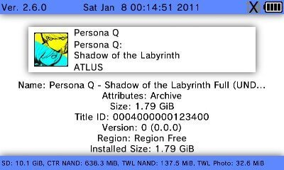 convert 3ds to cia fbi install persona q