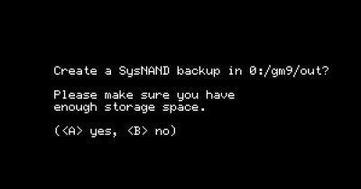 godmode9 create sysnand backup