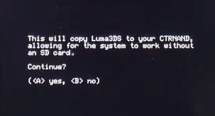 luma3ds ctrnand prompt