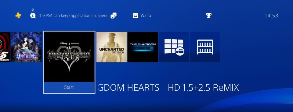 ps4 hen 505 installed game home menu