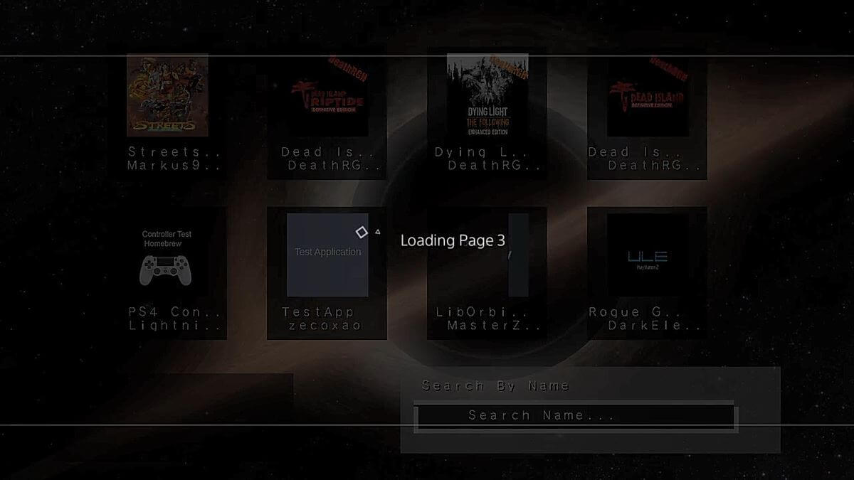 ps4 homebrew store loading page