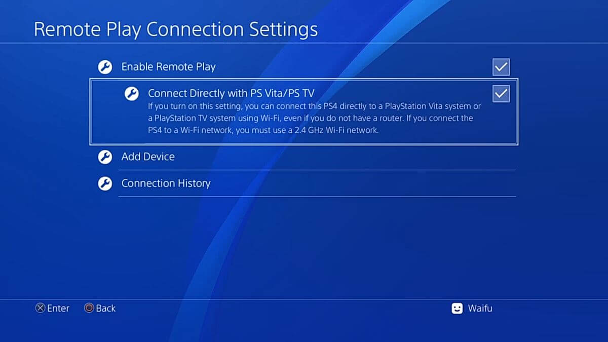 ps4 remote play connect direct