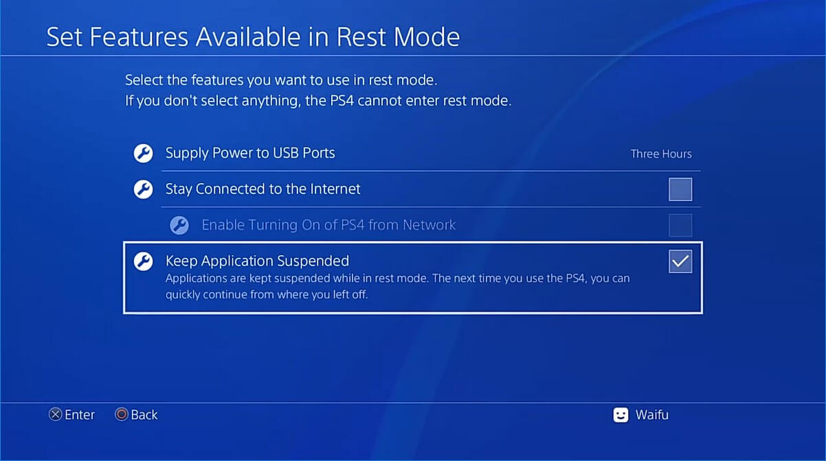 ps4 remote play keep application suspended