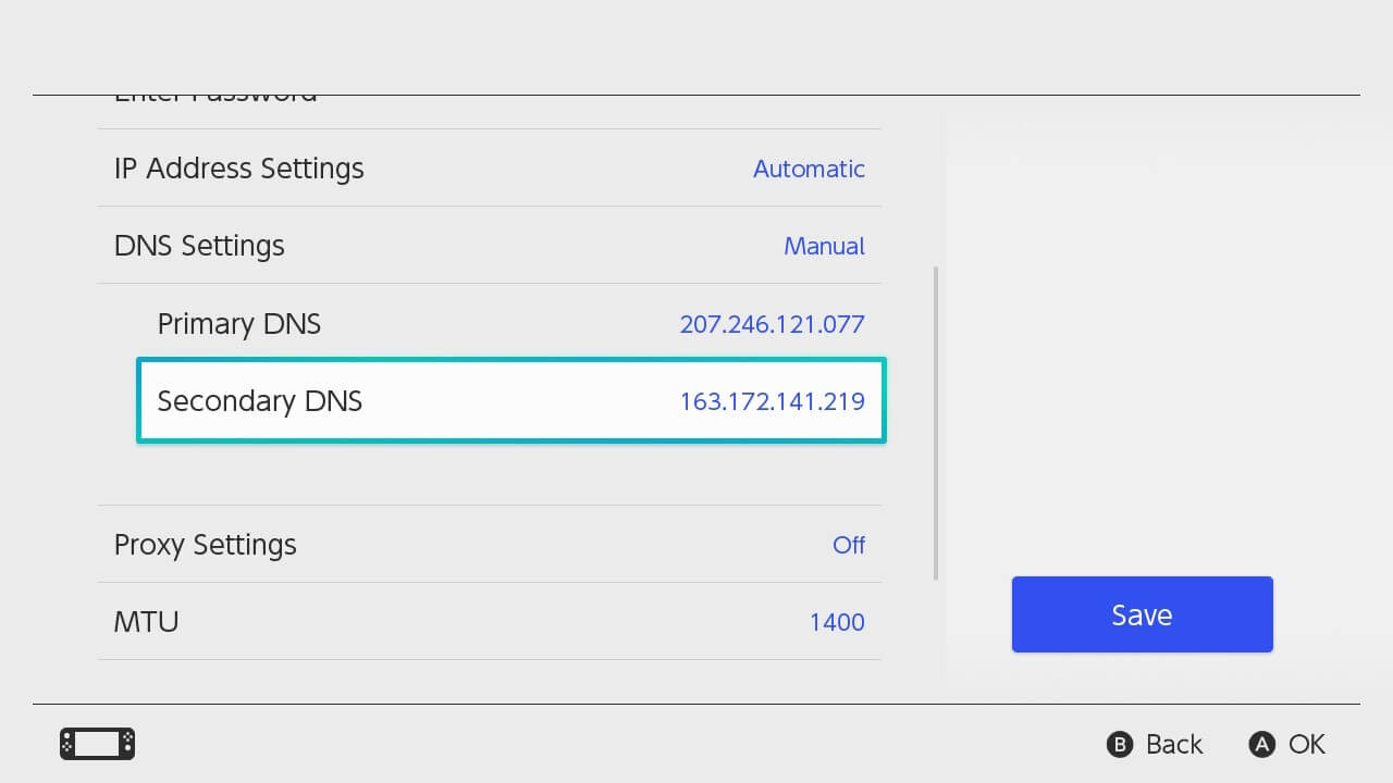 block switch updates dns settings 90dns