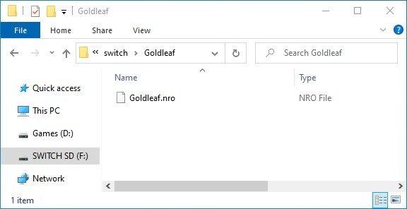 goldleaf switch sd nro hb menu