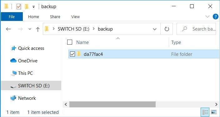 hekate nand backup folder sd restore