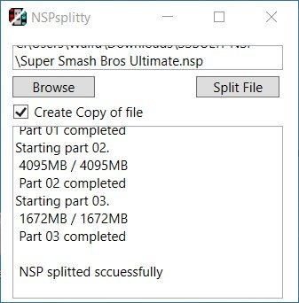 nspsplitty switch goldleaf install fat32 browse split file completed