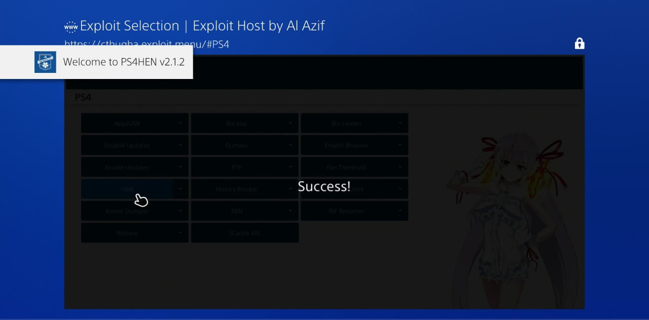 ps4 505 jailbreak al azif exploit selection ps4hen