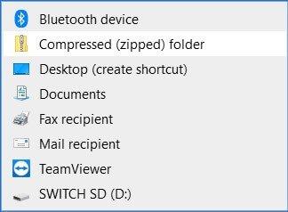 send to compress zip nand backup folder switch