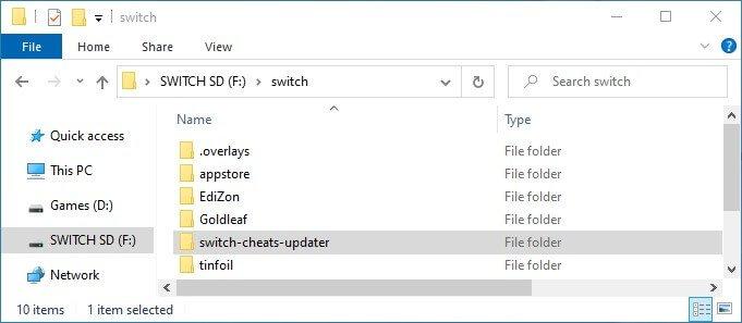 switch edizon cheats updater nro