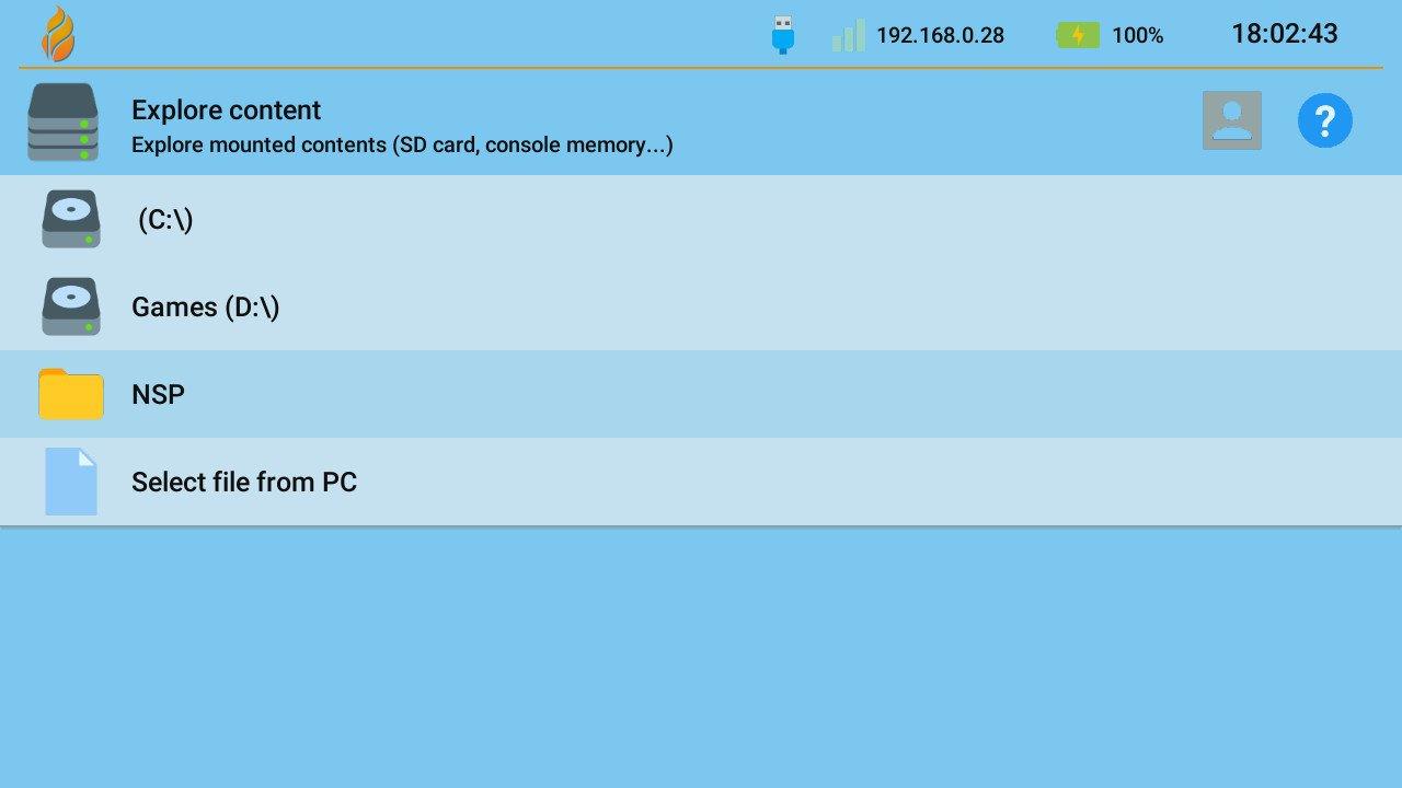 switch goldleaf quark browse folder usb nsp