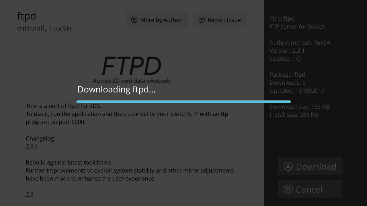 switch hb appstore ftpd downloading install
