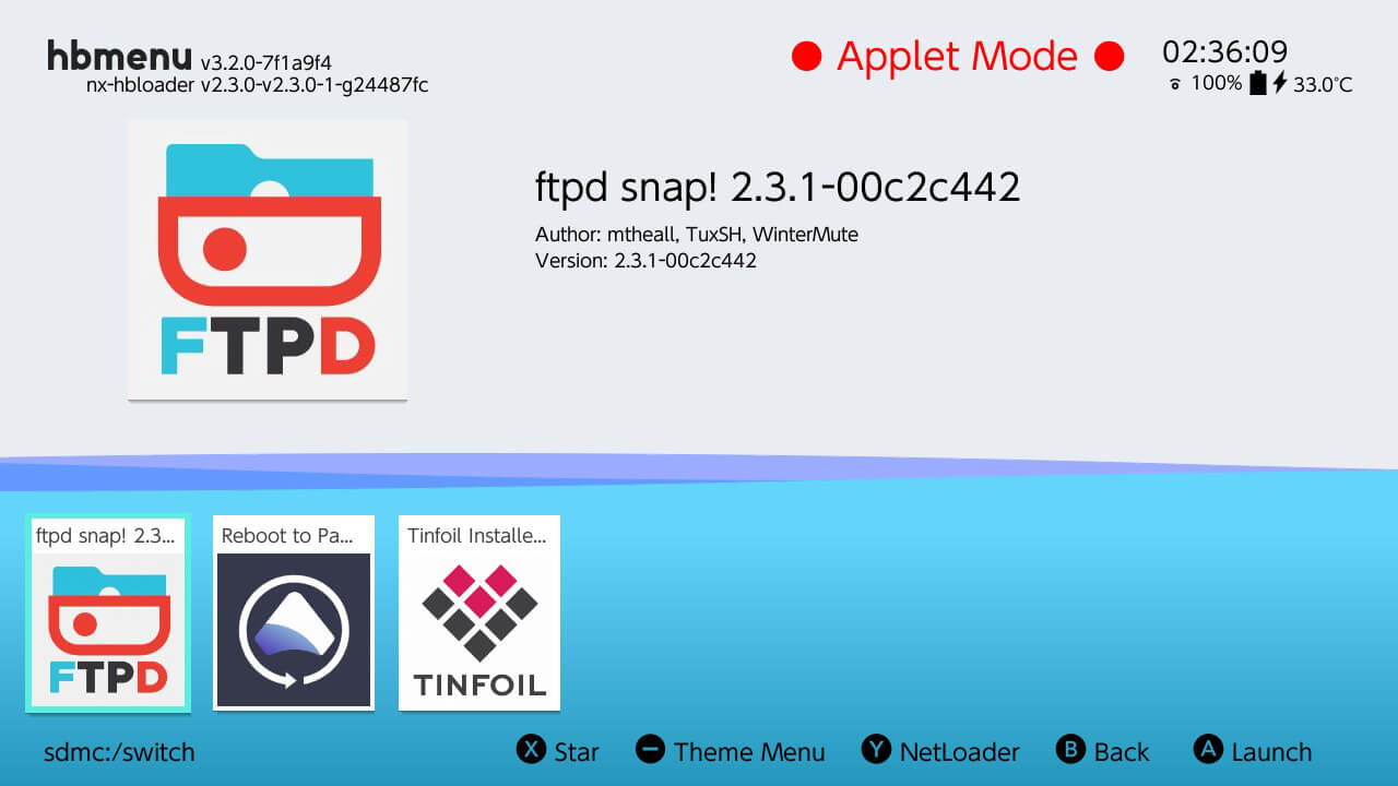 switch hbmenu ftpd ftp