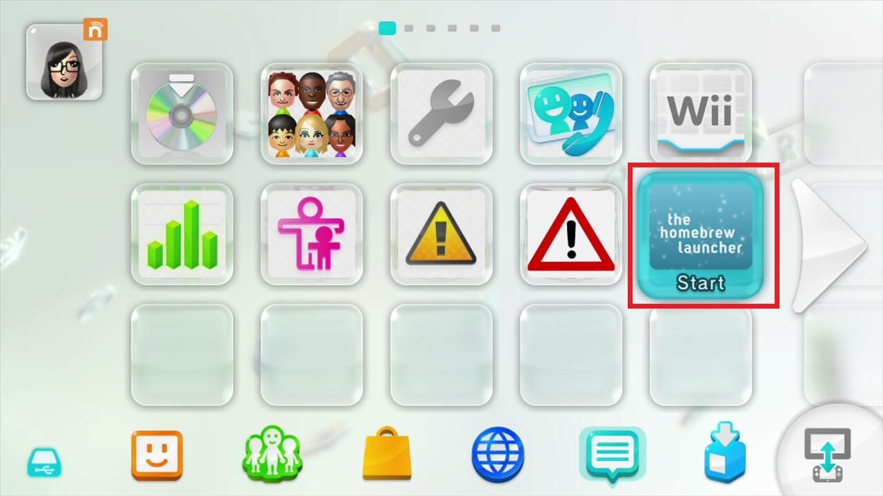 wii u cfw haxchi homebrew launcher menu