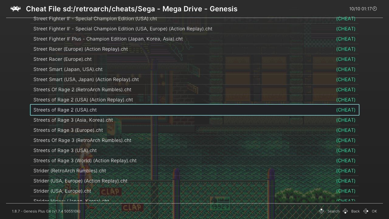 wii u retroarch quick menu cheats games