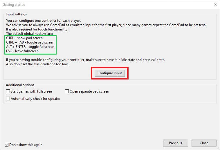 cemu install configure input