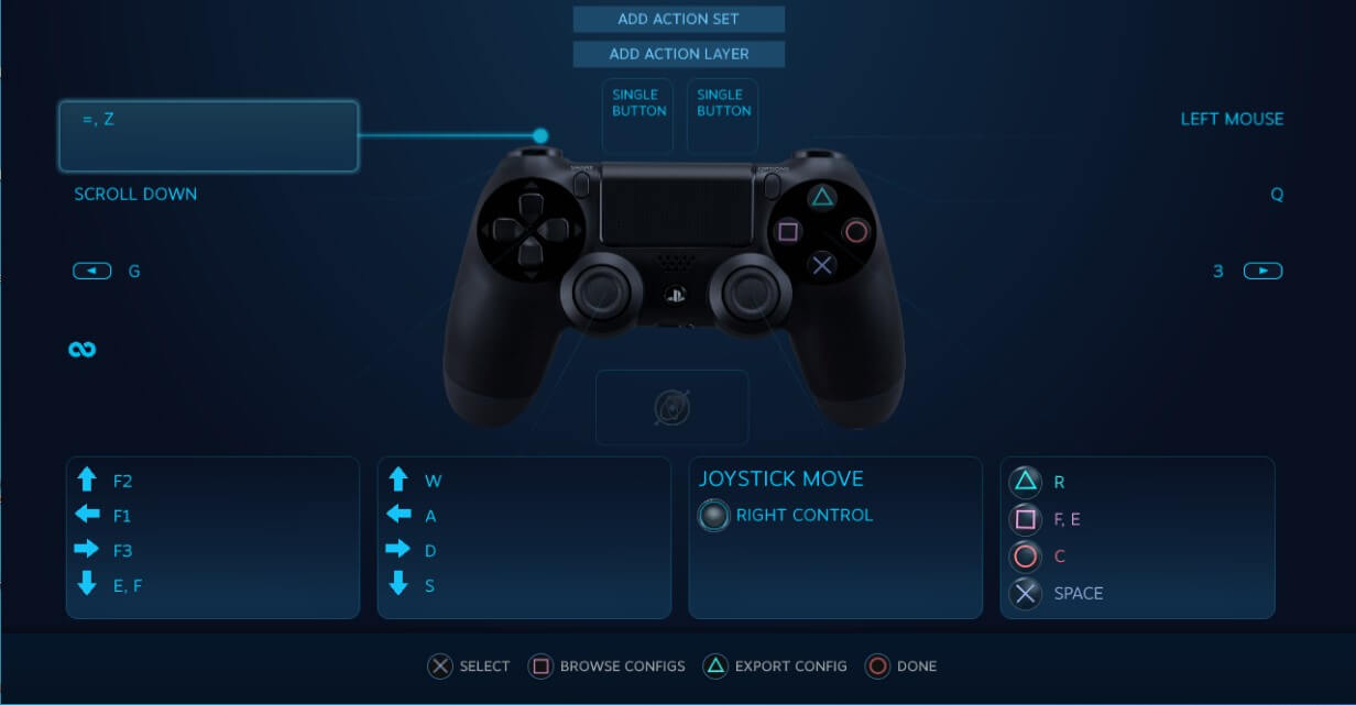 controller configuration steam game