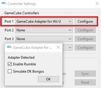 dolphin games play gamecube controllers settings