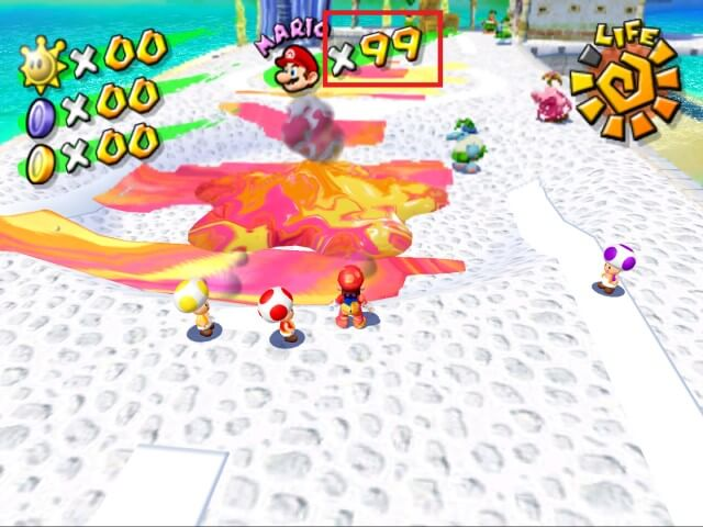 dolphin games play super mario sunshine cheats 99 lives