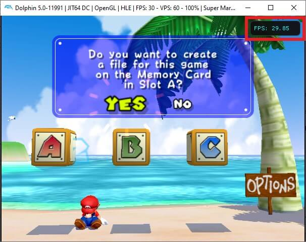 dolphin games play super mario sunshine frames per second fps cfwaifu