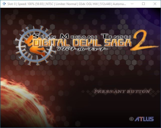 pcsx2 main window launch ps2 iso game