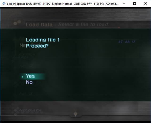 pcsx2 mymc import save file load game