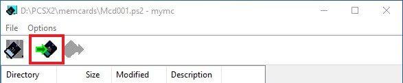 pcsx2 mymc import save file