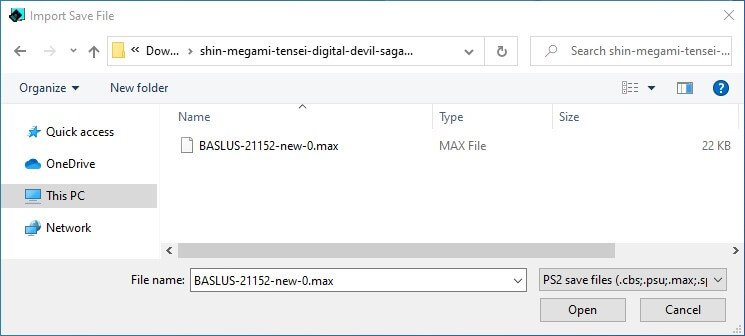 pcsx2 mymc select file