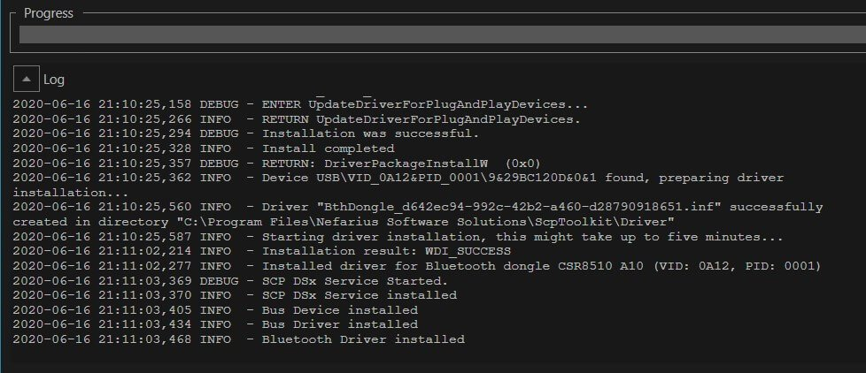 ps4 controller scptoolkit bluetooth driver installed