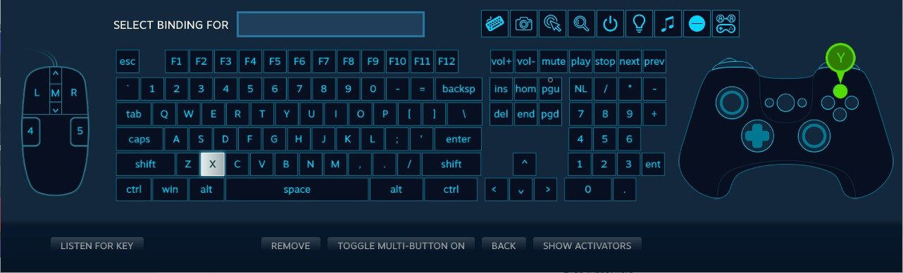 controller configuration steam game map buttons keys