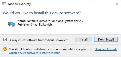 skynx install required drivers