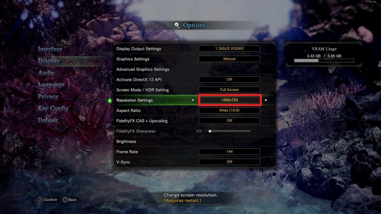 skynx stream 720p settings monster hunter