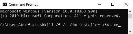 zadig driver installation failed kill installer exe task manager