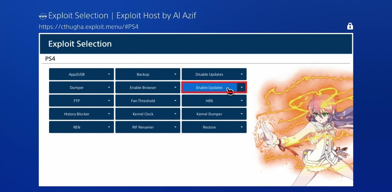 ps4 672 exploit jailbreak enable updates al azif